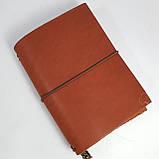 Блокнот коричневый мидори Midori      А6 кожаный   натуральная кожа ;жесткая кожа, фото 5