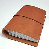 Блокнот коричневый мидори Midori      А6 кожаный   натуральная кожа ;жесткая кожа, фото 4