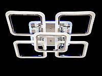 Led-люстра для спальни с пультом и подсветкой, цвет хром, 100W на 14 м2 A8060-4+1HR-LS