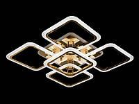 LED люстра с пультом и подсветкой для спальни, цвет золото, 100W на 14 м2 A8060-4+1G-LS