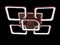 Светодиодная лед люстра для зала, спальни, цвет коричневый 125W на 18 кв.м 8060-4+1CF-LS