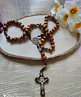 Дерев'яні чотки з хрестом, від студії LadyStyle.Biz, фото 1