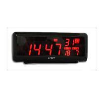 Часы с термометром VST, красное LED-табло (яркость регулируется), 24 мелодии