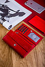 Жіночий шкіряний гаманець Betlewski з RFID 17,5 х 8,5 х 2,5 (BPD-DZ-12)- червоний, фото 5