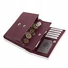 Жіночий шкіряний гаманець Betlewski з RFID 13,5 х 10,5 х 3,5 (BPD-SS-11)- бордовий, фото 2