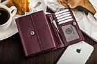 Жіночий шкіряний гаманець Betlewski з RFID 13,5 х 10,5 х 3,5 (BPD-SS-11)- бордовий, фото 5