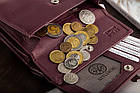 Жіночий шкіряний гаманець Betlewski з RFID 13,5 х 10,5 х 3,5 (BPD-SS-11)- бордовий, фото 6