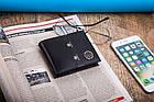 Чоловічий шкіряний гаманець Betlewski з RFID 9,3 х 11 х 2 (BPM-KE-66) - чорний, фото 2