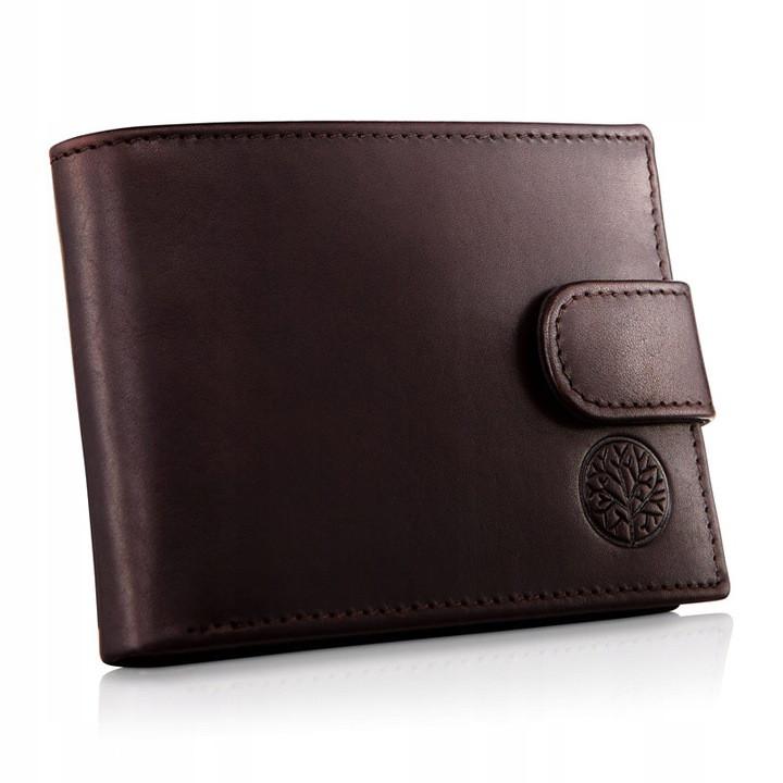 Чоловічий шкіряний гаманець Betlewski з RFID 12 х 9 х 3 (BPM-NVTC-60) - коричневий