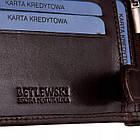 Чоловічий шкіряний гаманець Betlewski з RFID 12 х 9 х 3 (BPM-NVTC-60) - коричневий, фото 6