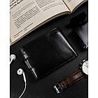 Чоловічий шкіряний гаманець Badura  з RFID 9,5 х 12,5 х 1 (PO_M085CZ_CE) - чорний, фото 5