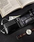 Чоловічий шкіряний гаманець Badura  з RFID 9,5 х 12,5 х 1 (PO_M085CZ_CE) - чорний, фото 6