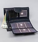Жіночий шкіряний гаманець Badura з RFID 9,5 х 17,5 х 3,3 (PO_D116GN_CE) - синій, фото 3