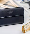 Жіночий шкіряний гаманець Badura з RFID 9,5 х 17,5 х 3,3 (PO_D116GN_CE) - синій, фото 4