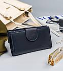 Жіночий шкіряний гаманець Badura з RFID 9,5 х 17,5 х 3,3 (PO_D116GN_CE) - синій, фото 5