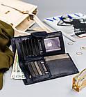 Жіночий шкіряний гаманець Badura з RFID 9,5 х 17,5 х 3,3 (PO_D116GN_CE) - синій, фото 7