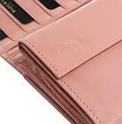 Жіночий шкіряний гаманець Badura з RFID 10 х 18,5 х 3,5 (PO_D114SA_CE) - рожевий, фото 5