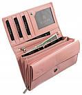 Жіночий шкіряний гаманець Badura з RFID 10 х 18,5 х 3,5 (PO_D114SA_CE) - рожевий, фото 6
