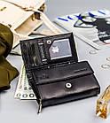 Жіночий шкіряний гаманець Badura з RFID 10 х 13 х 4 (PO_D111CZ_CE) - чорний, фото 6