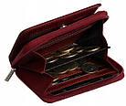 Жіночий шкіряний гаманець Badura з RFID 9,5 х 11 х 2,5 (B-41375P-BPR) - червоний, фото 2