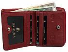 Жіночий шкіряний гаманець Badura з RFID 9,5 х 11 х 2,5 (B-41375P-BPR) - червоний, фото 5