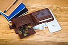 Чоловічий шкіряний гаманець Betlewski з RFID 9,6 х 12,5 х 2,5 (BPM-GTAN-60) - коричневий, фото 5