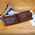 Чоловічий шкіряний гаманець Betlewski з RFID 9,6 х 12,5 х 2,5 (BPM-GTAN-60) - коричневий, фото 6