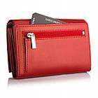 Жіночий шкіряний гаманець Betlewski з RFID 13 х 9 х 3,5 (BPD-DZ-11)- червоний, фото 4