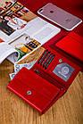 Жіночий шкіряний гаманець Betlewski з RFID 13 х 9 х 3,5 (BPD-DZ-11)- червоний, фото 7