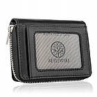 Жіночий шкіряний гаманець Betlewski з RFID 10,5 х 8 х 2 (BPD-SS-20) - чорний, фото 2