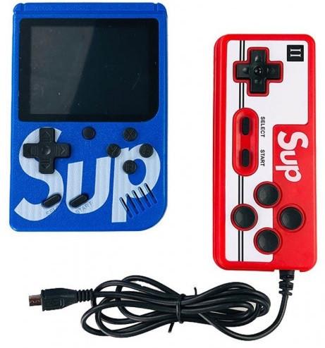 Портативна приставка SUP Game box 400 ігор Dendy з джойстиком Синій