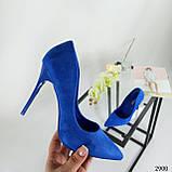 Жіночі туфлі човники електрик, фото 4