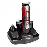 Тример з насадками Geemy GM-592 бездротова акумуляторна машинка для стрижки волосся і бороди 10 в 1, фото 2