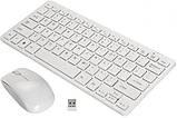 Комплект беспроводная клавиатура и мышь K03 для компьютера с защитной пленкой, фото 3