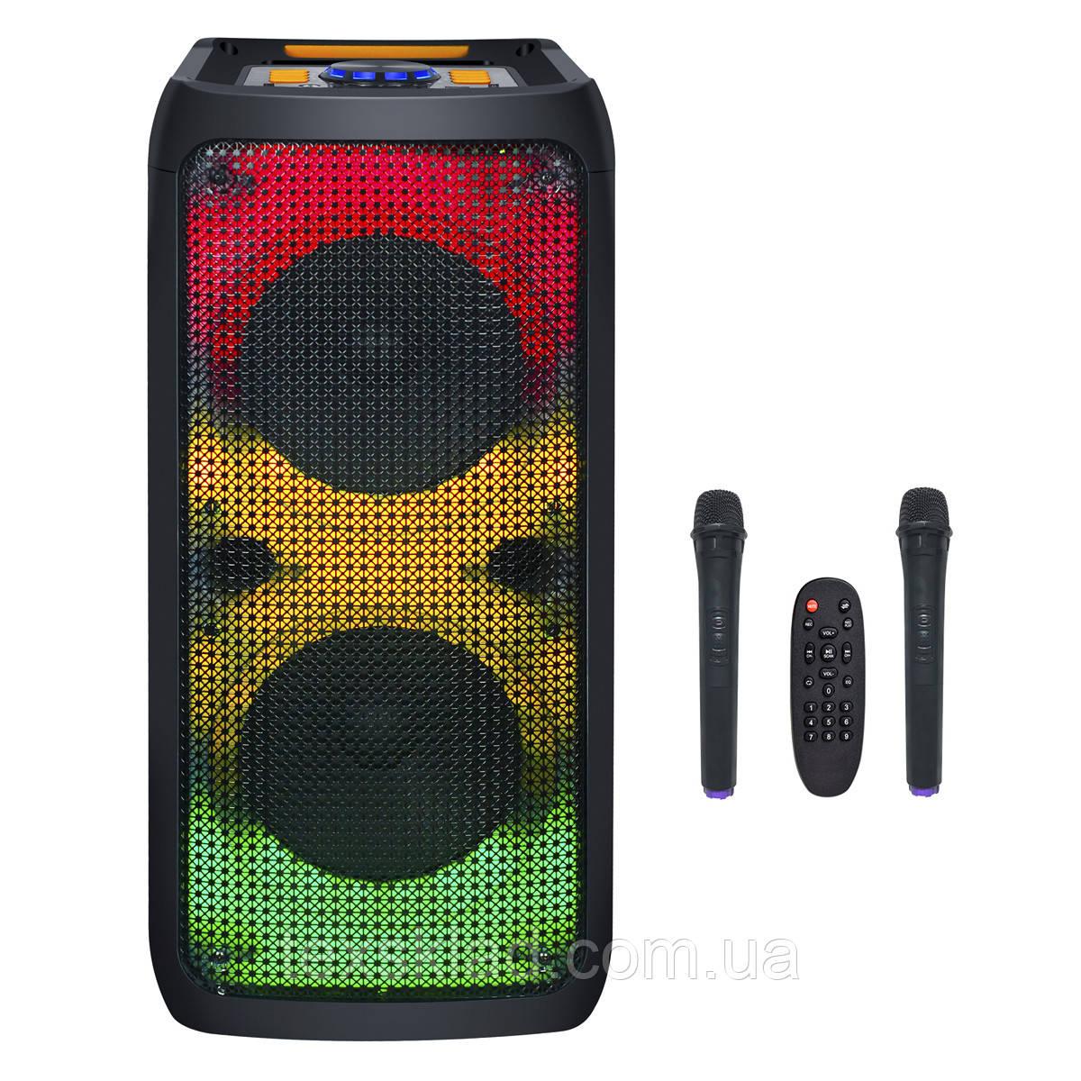 Портативна акустика JB800FLAME USB/MP3/BT/TWS/ 2 мікрофона