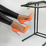 Жіночі туфлі човники неонові жовті помаранчеві, ХІТ ЛІТА!!!, фото 2