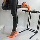 Жіночі туфлі човники неонові жовті помаранчеві, ХІТ ЛІТА!!!, фото 3