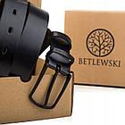 Ремінь чоловічий шкіряний Betlewski® 2,9 х 0,4 (LIC30-5C) - чорний, фото 9