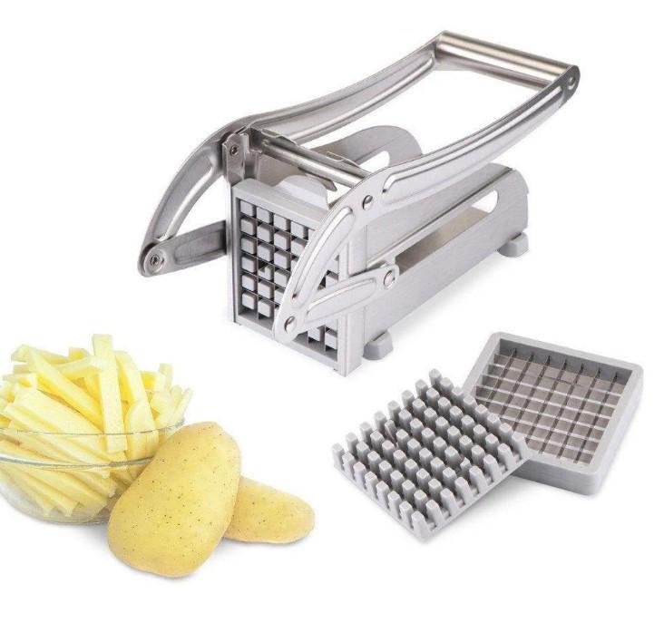 Картофелерезка Potato Chipper Машинка для нарезки картофеля фри соломкой, картофелерезка ручная, сталь