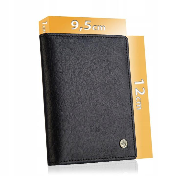 Чоловічий шкіряний гаманець Betlewski з RFID 12 х 9,5 х 1 (BPM-BH-M3) - чорний