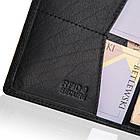 Чоловічий шкіряний гаманець Betlewski з RFID 12 х 9,5 х 1 (BPM-BH-M3) - чорний, фото 6