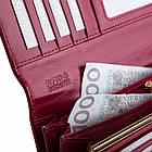 Жіночий шкіряний гаманець Betlewski з RFID 18,5 х 10 х 3,5 (BPD-OL-100) - бордовий, фото 4