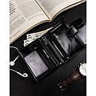 Чоловічий шкіряний гаманець Badura  з RFID 13 х 9,5 х 2,5 (PO_M054CZ_CE) - чорний, фото 5