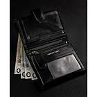 Чоловічий шкіряний гаманець Badura  з RFID 13 х 9,5 х 2,5 (PO_M054CZ_CE) - чорний, фото 6