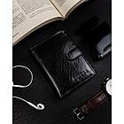 Чоловічий шкіряний гаманець Badura  з RFID 13 х 9,5 х 2,5 (PO_M054CZ_CE) - чорний, фото 8
