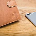 Чоловічий шкіряний гаманець Betlewski з RFID 12,9 х 10 х 2,5 (BPM-GTAN-993) - пісочний, фото 8