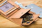 Чоловічий шкіряний гаманець Betlewski з RFID 12,9 х 10 х 2,5 (BPM-GTAN-993) - пісочний, фото 9