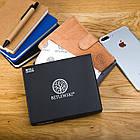 Чоловічий шкіряний гаманець Betlewski з RFID 12,9 х 10 х 2,5 (BPM-GTAN-993) - пісочний, фото 10