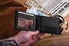 Чоловічий шкіряний гаманець Betlewski з RFID 9,5 х 12,5 х 2,5 (BPM-HT-60A) - чорний, фото 8