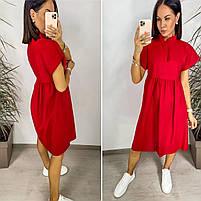 Нежное женское льняное платье в расцветках (Норма и батал), фото 5
